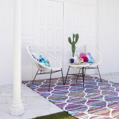 Diya Flatweave rug by Sugarcane Trading Co | Handwoven, upcycled, colourful rug