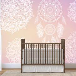 Dreamy Pink | Full Wall Mural