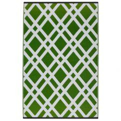 Dublin Lime Recycled Plastic Indoor/Outdoor Mat | 150x238 cm | Fab Habitat