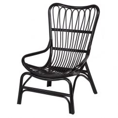 Ebota Ratten Chair Black