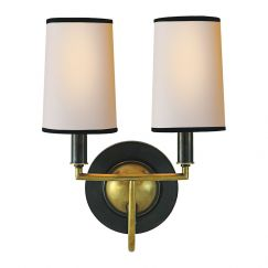 Elkins Double Sconce | by The Montauk Lighting Co.
