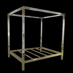 Empress Lucite Acrylic King Size 4 Post Bed | Customisable