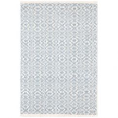Fair Isle French Blue/Ivory | Cotton Woven Runner 76 x 243cm