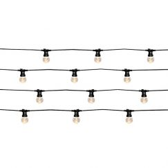 Festoon II 20 Light LED Light Kit in Black and Warm White | By Beacon Lighting