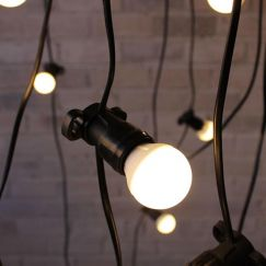 Festoon Lighting | Outdoor String Lights | 10 Metres with 10 LED Small Opal G45