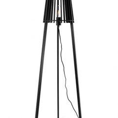 Fidel Timber Floor Lamp | Black | Modern Furniture