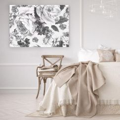 Fiore Grigio   Stretched Canvas/ Printed Panel
