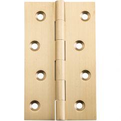 Fixed Pin Hinge 10x6cm, Satin Brass | Schots