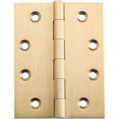 Fixed Pin Hinge, 10x7.5cm, Satin Brass | Schots