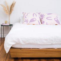 Floral Dreams   Euro pillowcase Set   Lavender & Mustard