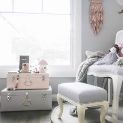 Florence Ottoman Grey | Rocking Baby