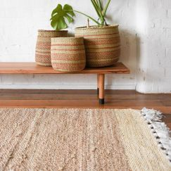 Freida Natural Jute Rug | by Collective Sol