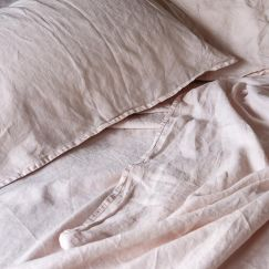 French Linen Blush | Full Sheet Set by Bedtonic