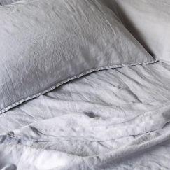 French Linen Fog | Full Sheet Set by Bedtonic