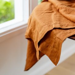French Linen Grazing Cloth | Ex Large | Terracotta