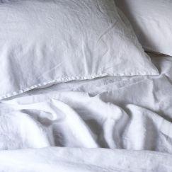 French Linen Winter White | Full Sheet Set by Bedtonic