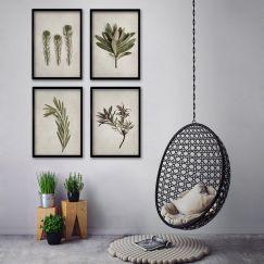 Fynbos Garden | Set of 4 Art Prints | Framed or Unframed