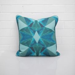 Geo Blue Cushion I Jak & Co Design
