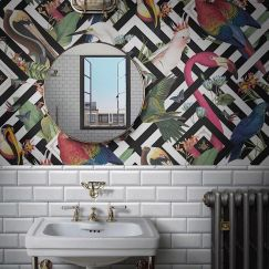 Geometric Aviary | Wallpaper