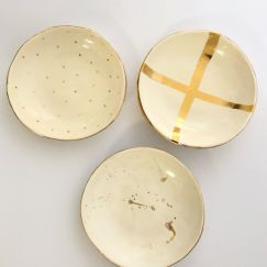 Gold Luster Bowls | Set of 3 | by Carla Dinnage