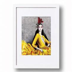 Graphic Drapery #1 | Signed Artist's Print | Various Sizes for Easy Framing