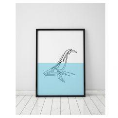Great Blue | Whale Art Print | Framed or Unframed