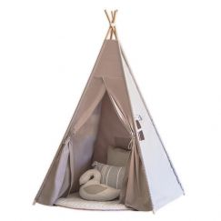 Cattywampus Kids Teepee Tent in grey colour. Perfect tipi for kids birthday party and present idea f