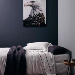 Grosgrain Black Sheet Set   Queen Bed