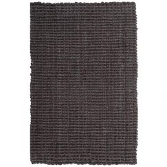 Handmade Chunky Jute Boucle Rug Latex Backed | Dark Grey
