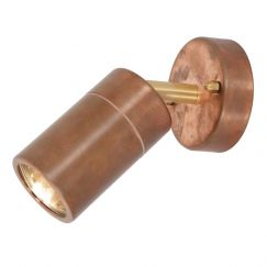 Harbour 1 Light Adjustable Wall Spot in Copper | By Beacon Lighting