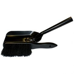 Hearth Brush & Pan Set | Black | Schots