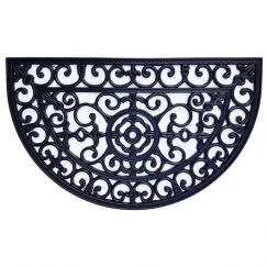 Heavy Duty Half Moon Wrought Iron Rubber Door Mat 56cm x 90cm | Pepperfry