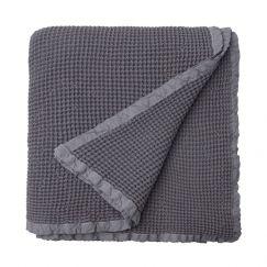 Hepburn Waffle Blanket | Ash | Large (200x240cm)