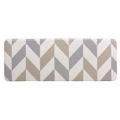 Herringbone Gainsboro | 120x44 CM | Anti Fatigue Mat | Kitchen, Laundry & Bathroom Mat | Double Side