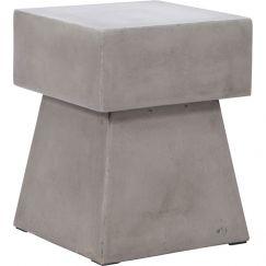 Hopper Concrete Stool   Dark Grey   Schots