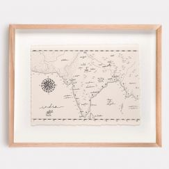India Map Illustration | Print by Adrianne Design