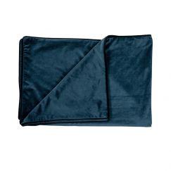 Indigo Blue   Velvet Throw