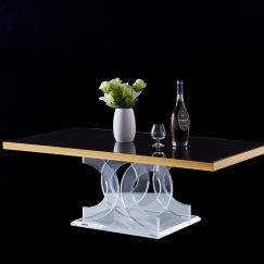 Infinity Lucite Acrylic Rectangle Coffee Table
