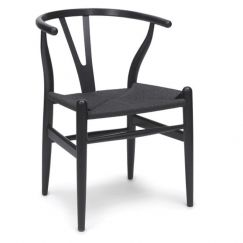 Inspire Dining Chair | Black Frame | Black Cord Seat
