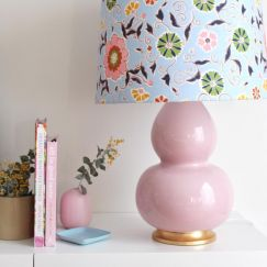 Jasmine Lamp Base | Blush Pink