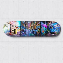 Joker on Hosier   Skateboard Deck Wall Art   Graffiti Photography   Blue Herring