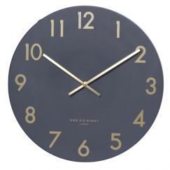 Jones Silent Wall Clock | 60cm | Charcoal