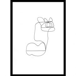 Kai   One Line Art Print   Jess Marney Design