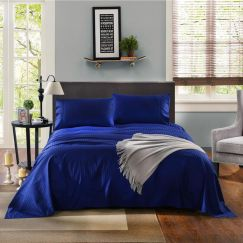Kensington 1200TC Cotton Sheet Set In Stripe | Indigo