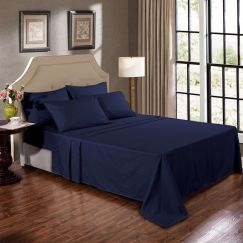 Kensington 1200TC Cotton Sheet Set In Stripe | Navy