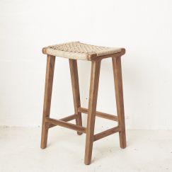 Khairi Woven Outdoor Barstool l Custom Made
