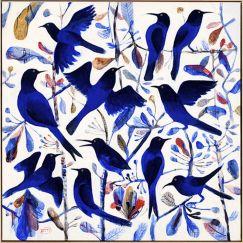 "Kitti Narod ""Bluebirds #1"" | Framed Giclee print on Canvas by Tusk Gallery"