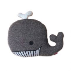Knitted Whale Cushion by Homely Creatures