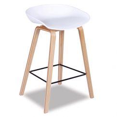 Kobe Stool | Natural American Ash Frame | White Shell Seat