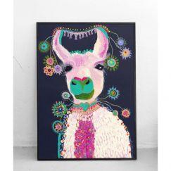 Lacey the Llama   Art Print   by Grotti Lotti